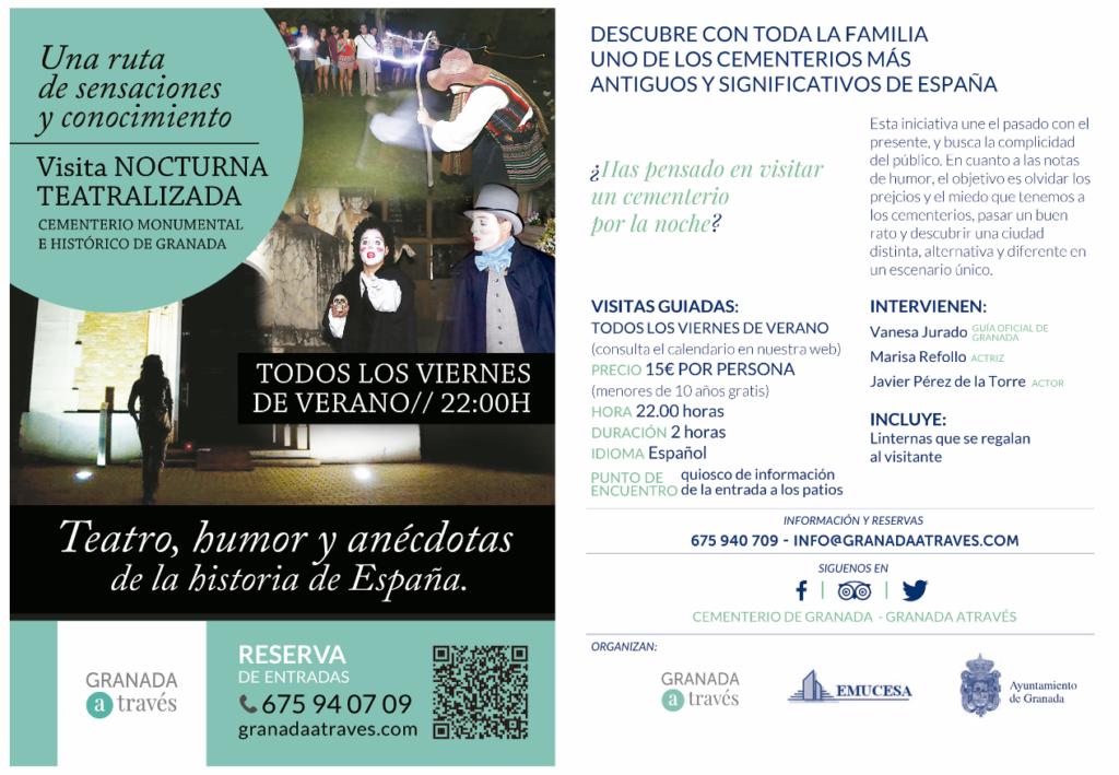 Visitas nocturnas guiadas Cementerio Monumental e Histórico de Granada