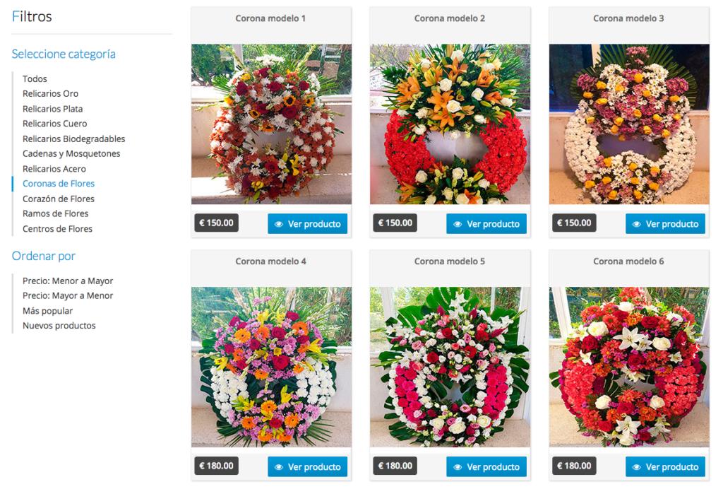 Coronas de flores Cementerio Mancomunado