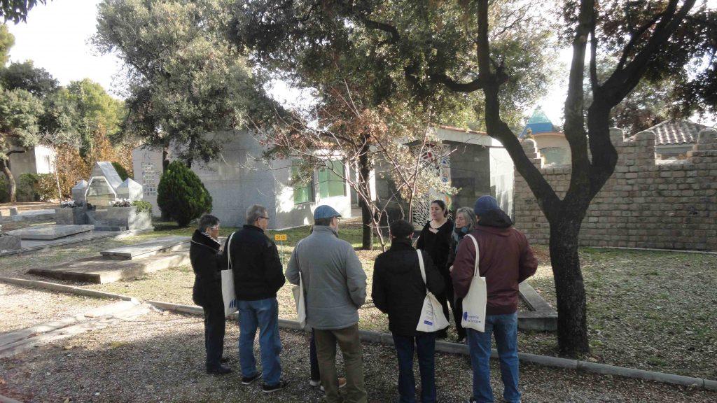 Viista guiada cementerio de Terrassa para la APESOTE